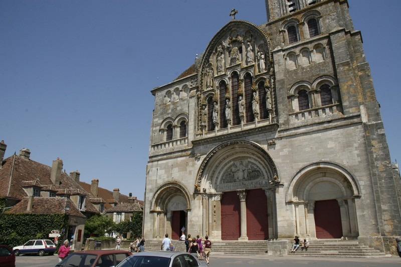 Vezelay-kerkplein
