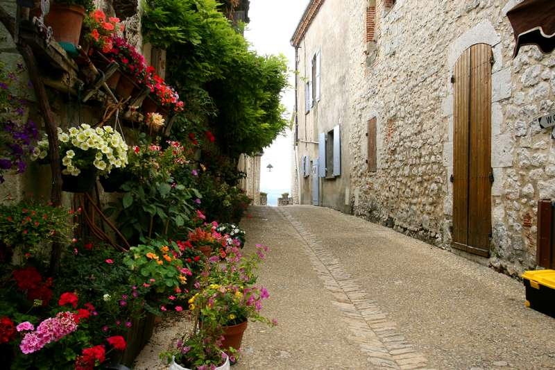 Pujols-le-Haut-Aquitani-C3-AB-Lot-bloemen-straatje