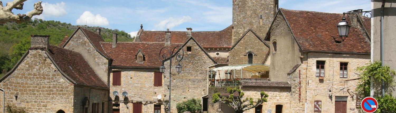 Autoire Lot Dordogne Frankrijk kerk