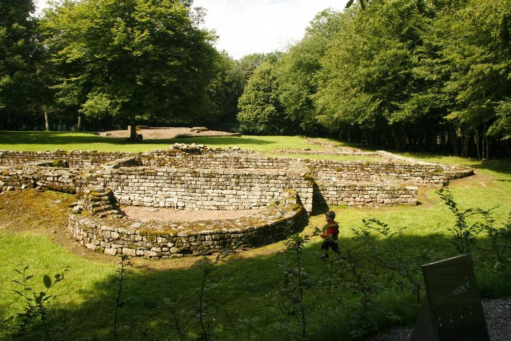 De archeologische vindplaats van een Romeinse stad in Saint Reverien in Bourgondië