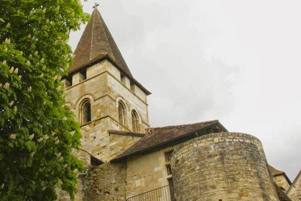 Kerk Saint Pierre in Carennac aan de Dordogne in Frankrijk