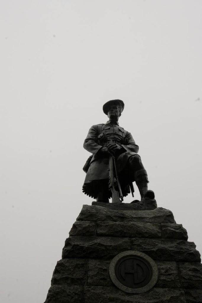 Monument voor de schotse highlanders in Beaumont-Hamel, Frankrijk