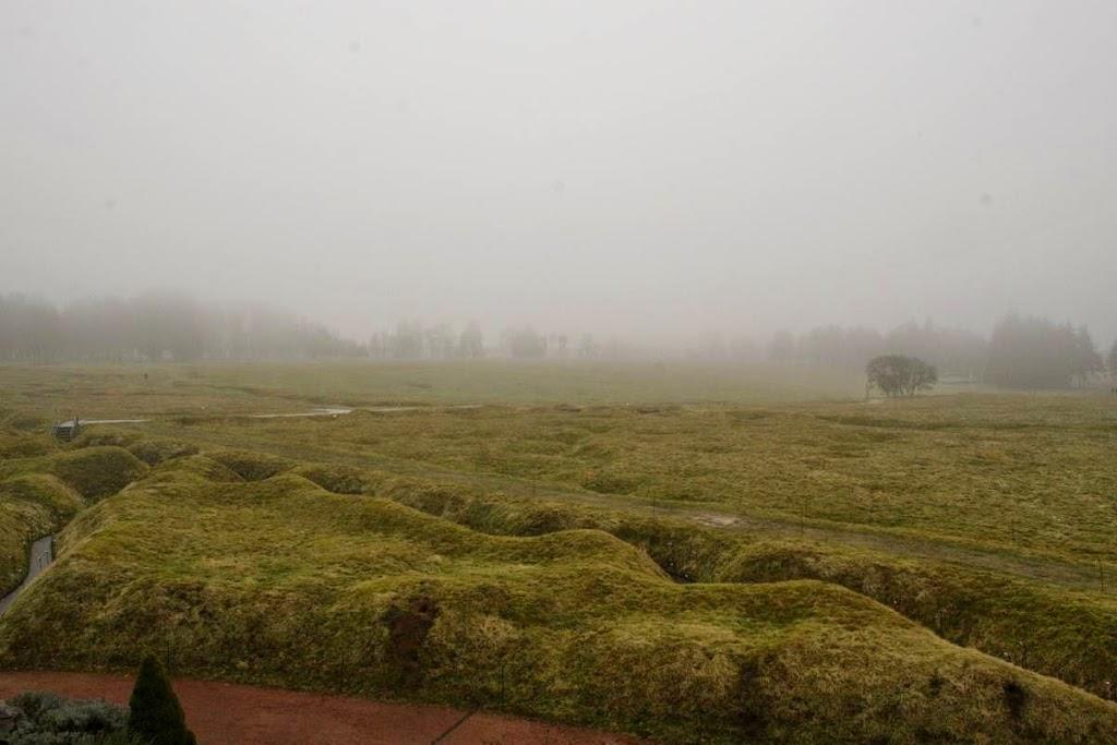 Slagveld bij Beaumont-Hamel gezien van de Engelse loopgraven