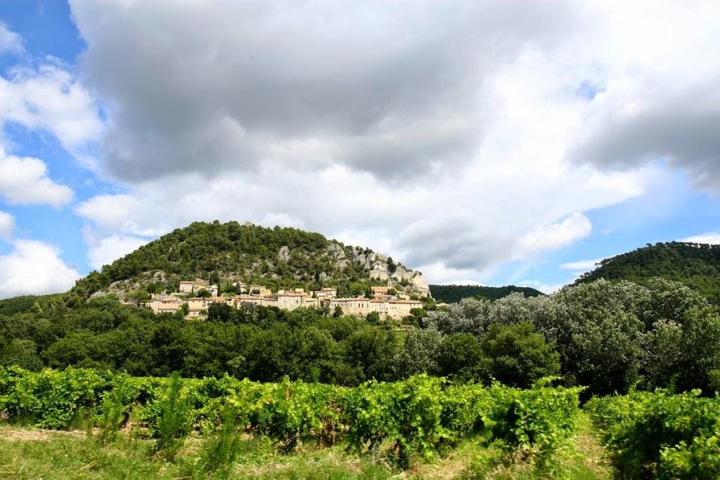 Het dorp Séguret in de Vaucluse, Provence Frankrijk