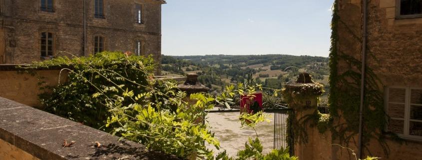 Kasteel in het dorp Belvès bij de Dordogne