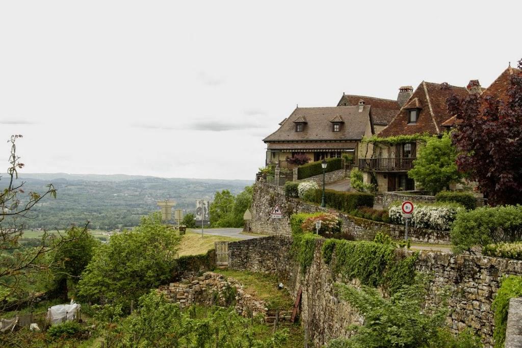 Panorama vanaf Loubressac, Quercy, Lot, Dordogne