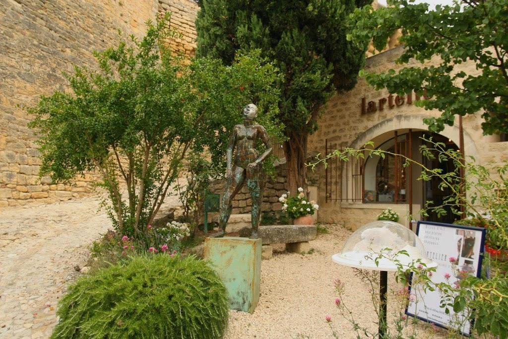 Kunstgallery in Ansouis in de Luberon, Frankrijk