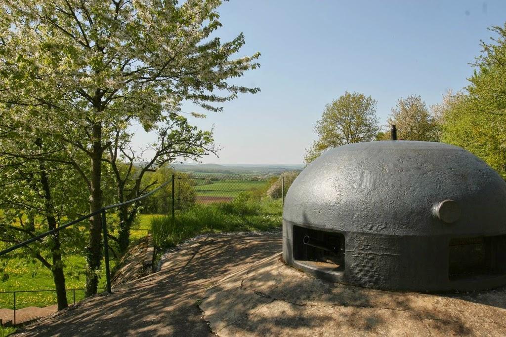 Geschutskoepel van het fort Hackenberg in Lotharingen, Frankrijk