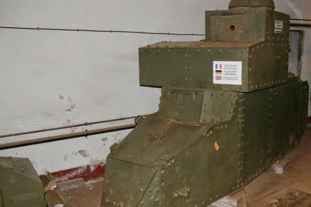 Een Renault TFS tank uit de Eerste Wereldoorlog