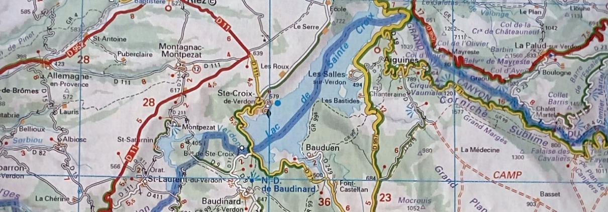 Landkaart Michelin