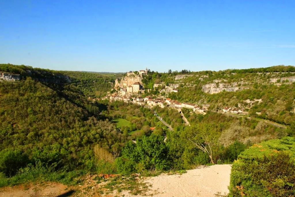 Uitzicht op Rocamadour vanaf L'Hospitalet