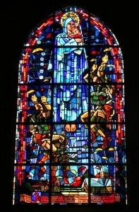 Sainte Mere Egilse nomandie kerk glas in lood