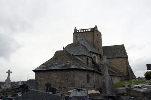 Kerk Saint Nicolas in Barfleur op het schiereiland cotentin in Normandië Frankrijk
