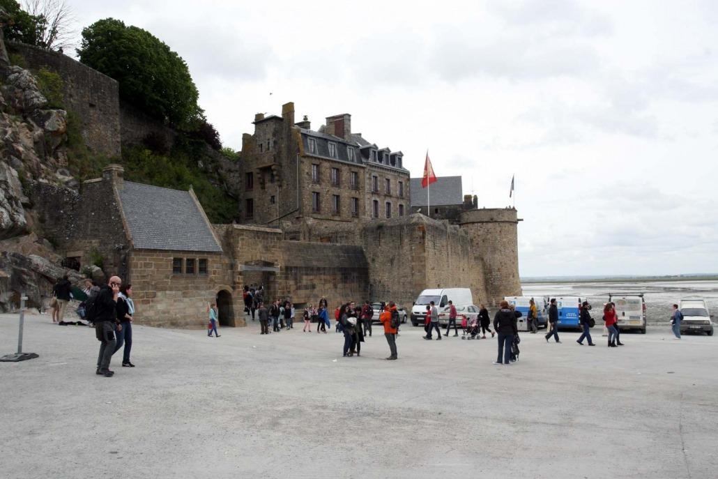 De poort van de Mont Saint Michel in Frankrijk
