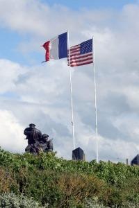 Het monument voor de Amerikaanse marine bij Utah Beach in Normandië