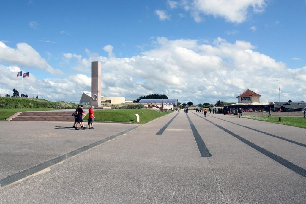 Het museum bij de duinen bij Utah Beach waar de Amerikanen landden tijdens D-Day.