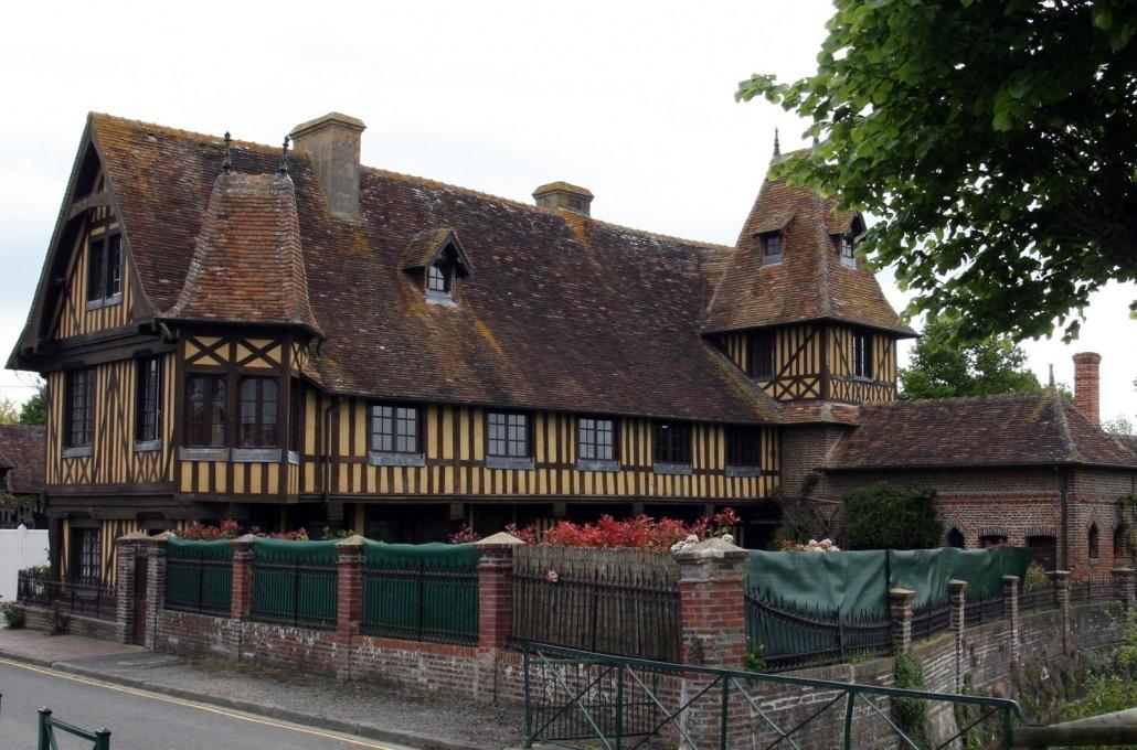 Het mooiste vakwerk huis van Beuvron en Auge in Normandië, Frankrijk