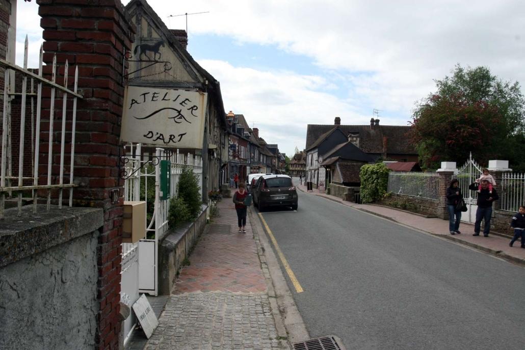 Atelier in Beuvron-en-Auge een dorp in de Calvados in Normandie, Frankrijk