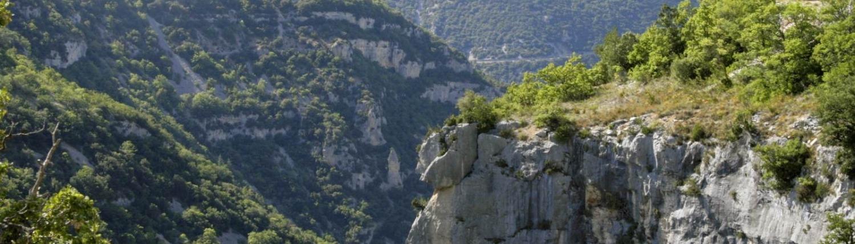 De gorges de la nesque in de Vaucluse in de Provence, Frankrijk