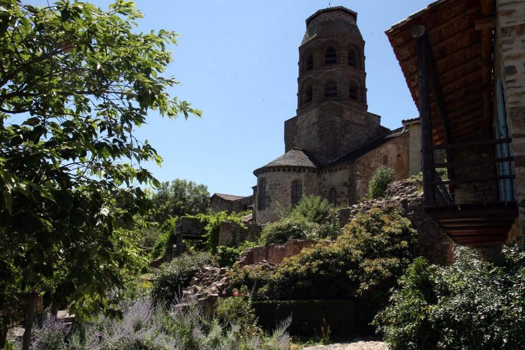 Het dorpje Lavaudieu in de Auvergne in het midden van Frankrijk