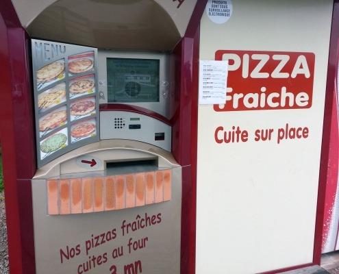 Pizzaautomaat in Lalaye in de Elzas