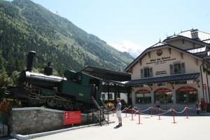 Station in Chamonix van het treintje naar het Mer du Glace