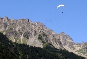 Paraglider boven Chamonix