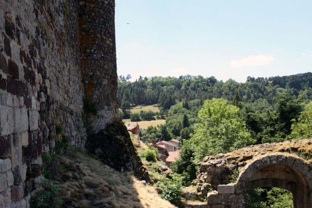 Arlempdes auvergne loire dorp kasteel toegang frankrijk