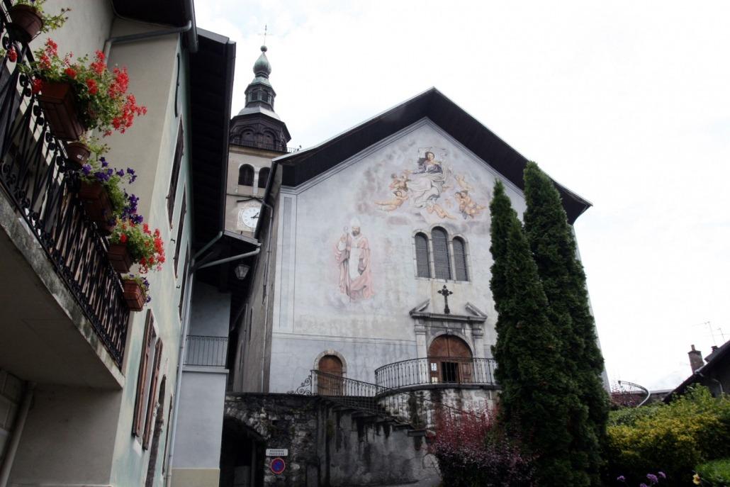 Kerk van Conflans bij Albertville in de Alpen