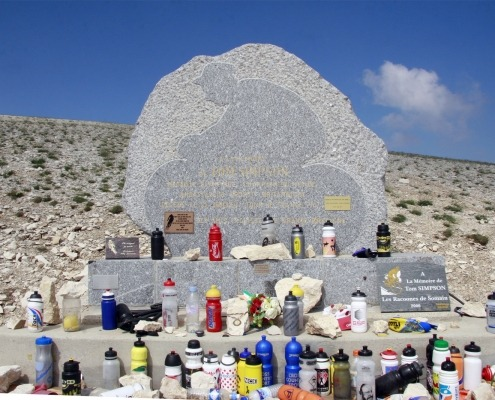 Monument Tom Simpson op de Mont Ventoux