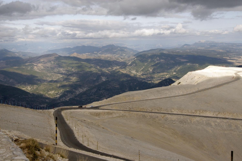 Uitzicht op de Alpen vanaf de Mont Ventoux