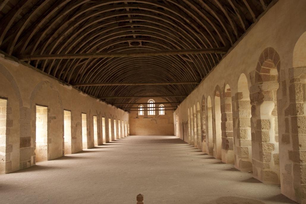Slaapruimte in het klooster van Fontenay
