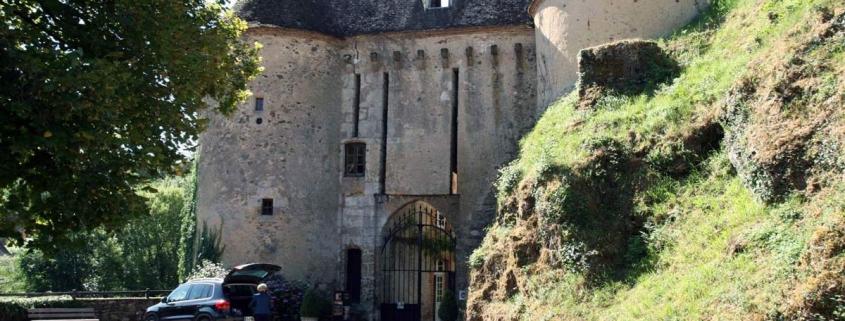 Kasteel in het dorp Gargilesse-Dampierre in Frankrijk