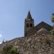 Het kerkje van La-Grave-La-Meije een dorp in de Franse Alpen