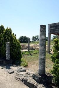 Romeinse villa Montreal dorp gers armagnac Frankrijk zuiltjes