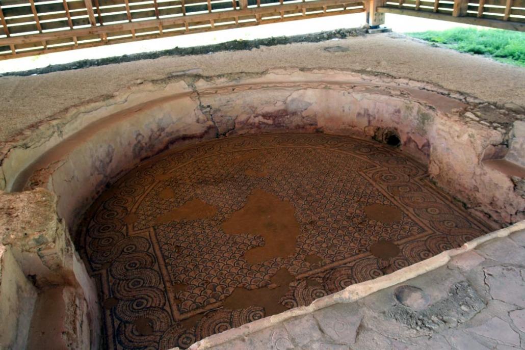 Waterbad Romeinse villa in Montréal in het zuidwesten van Frankrijk