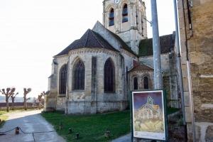 Kerk Auvers-sur-Oise dorp Frankrijk val dus oise vincent van gogh schilderij