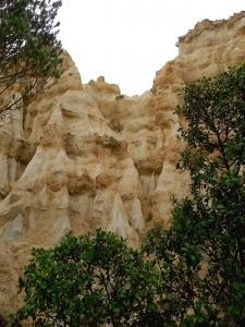 Orgues de l'Ille sur Tet rotsen Languedoc-Roussillon Frankrijk detail