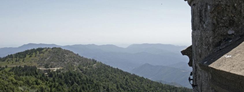 Mont Aigoual cevennen berg col top weerstation uitzicht zuiden frankrijk