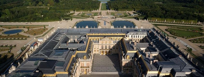 Luchtfoto van het kasteel van Versailles