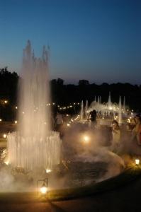 Het watertheater is één van de lusthoven in tuin van het paleis van Versailles