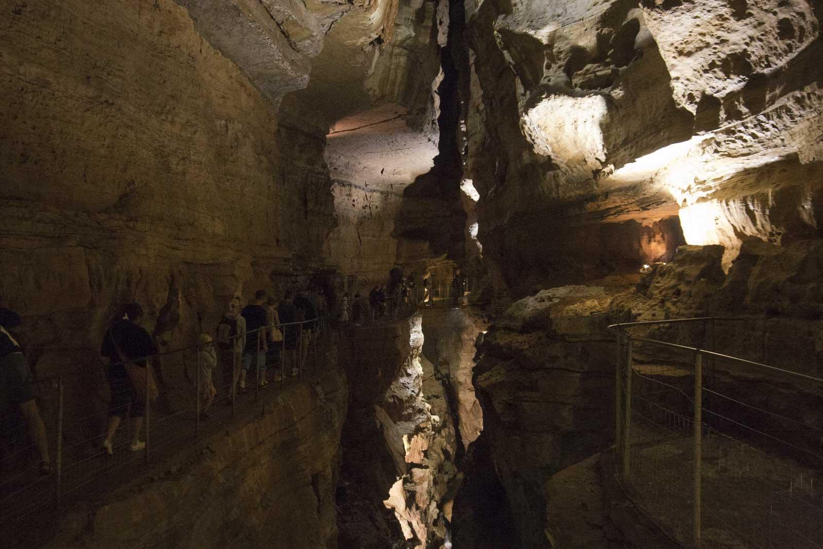 De grot Abîme-de-Bramabiau in het zuiden van Frankrijk