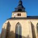 De toren van de kern in Marville in Lotharingen Frankrijk