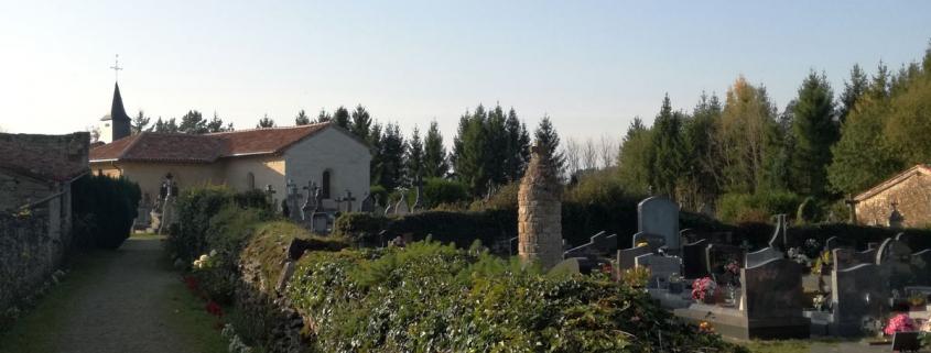 Het kerkhof in Saint Hilaire in Marville in Lotharingen Frankrijk