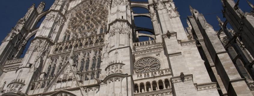 De zijgelev van de kathedraal van Beauvais even ten noorden van Parijs