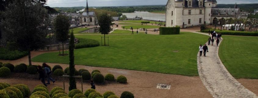 Het koninklijk kasteel van Amboise met de kapel waar Leonardo da Vinci is begraven