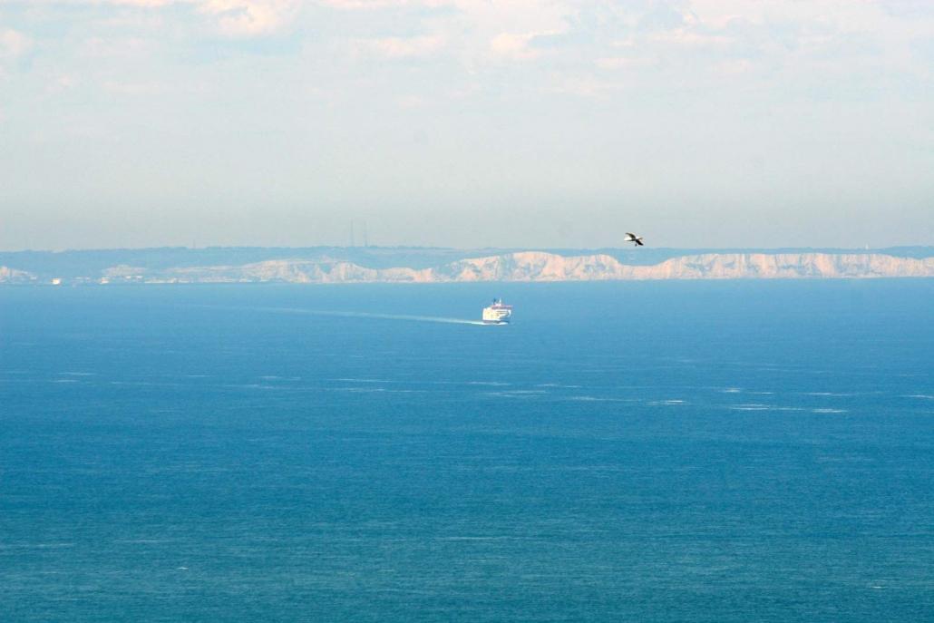 Dover gezien vanaf Cap Blanc Nez