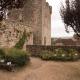 Middeleeuwse tuin in het Franse dorp Capdenac bij de Lot