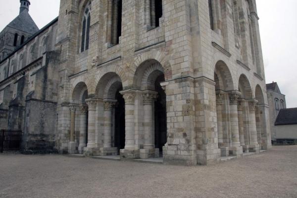 De toren van de abdijkerk van Saint-Benoît-sur-Loire