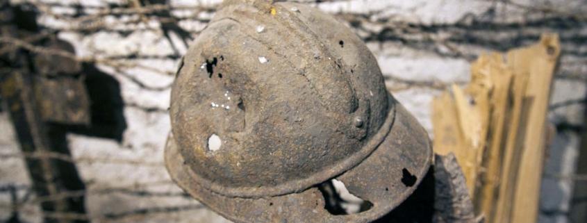 Een Franse helm uit de Eerste Wereldoorlog